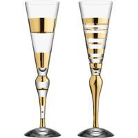 Orrefors Clown Glas 20 cl Guld 2-Pack